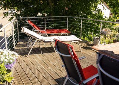 Balkon der Ferienwohnung Stephanides in Lemgo