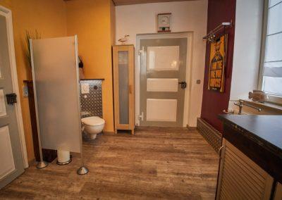 Badezimmer der Ferienwohnung Stephanides in Lemgo