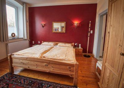 Schlafzimmer der Ferienwohnung Stephanides in Lemgo